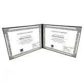"TG872 8-1/2 x 11"" Double Panel Certificate Cover"