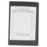 Top Grain Leather Memo Jotter holds 3x5 cards