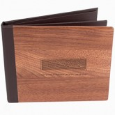 Wood Town Menu Covers with Multi Panel Pockets
