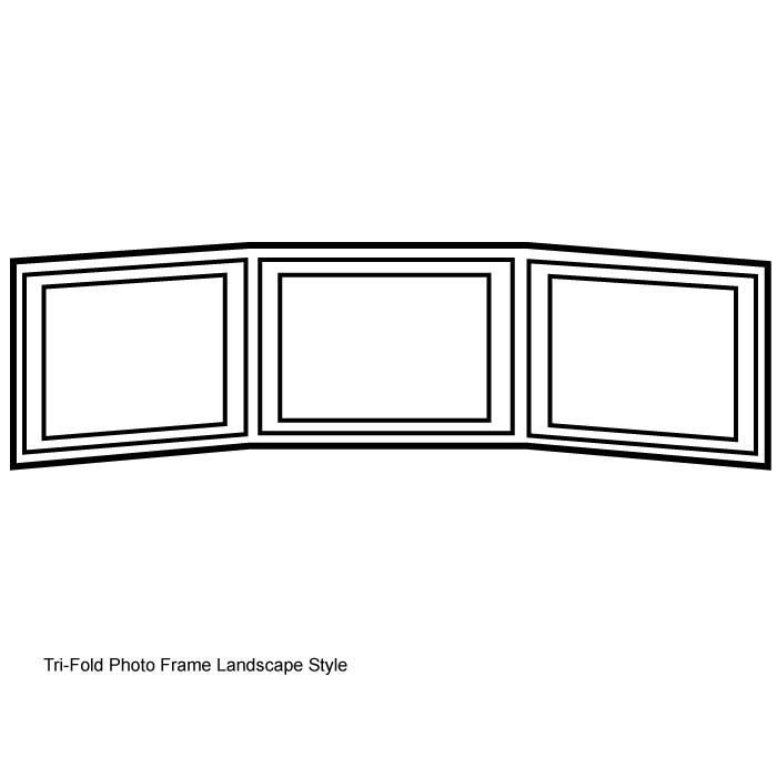 Photo Frames Triple Frame Book Or Landscape 5 X 7