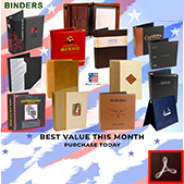 167-Zippered Binders Made in USA Thumbnail