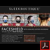 176 Sleek Boutique Face Shields Thumbnail