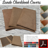 185 Suede Checkbook Covers Thumbnail