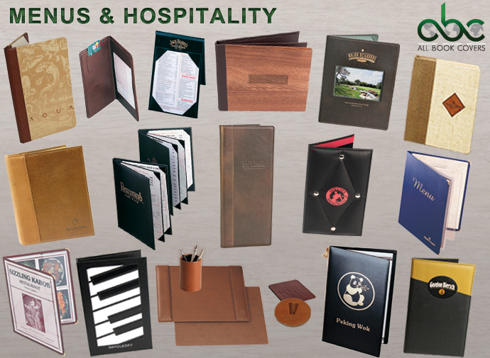 All Book Covers Hospitality Custom Binders And Custom