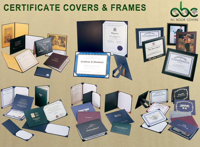 Certificate Covers-Certiifcate Frames-Certificate Holders