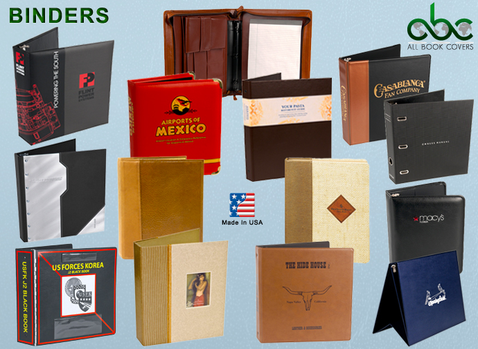 Hotel Binders-3 Ring Binders-Custom Binders-Wood Metal Acrylic Binders-Leather Binders