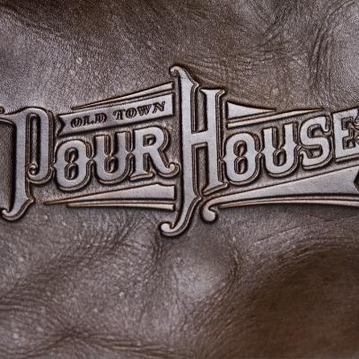 pour house deboss